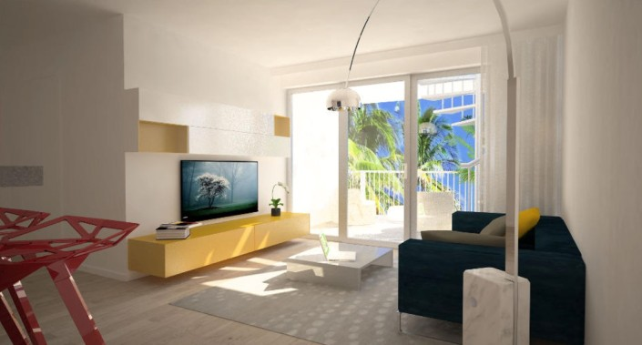 Edgewater Living room - Miami